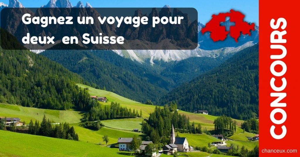 CONCOURS Gagnez un voyage pour deux en Suisse
