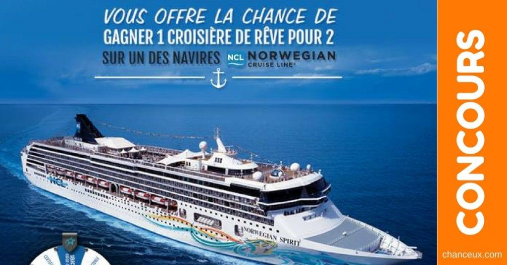 CONCOURS VOYAGE - Gagnez une croisière de rêve pour 2 sur un de ses navires!