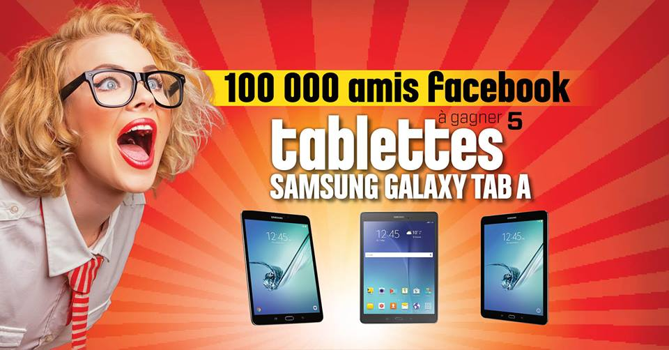 CONCOURS FACEBOOK - Gagne une des 5 Tablettes Samsung Galaxy!