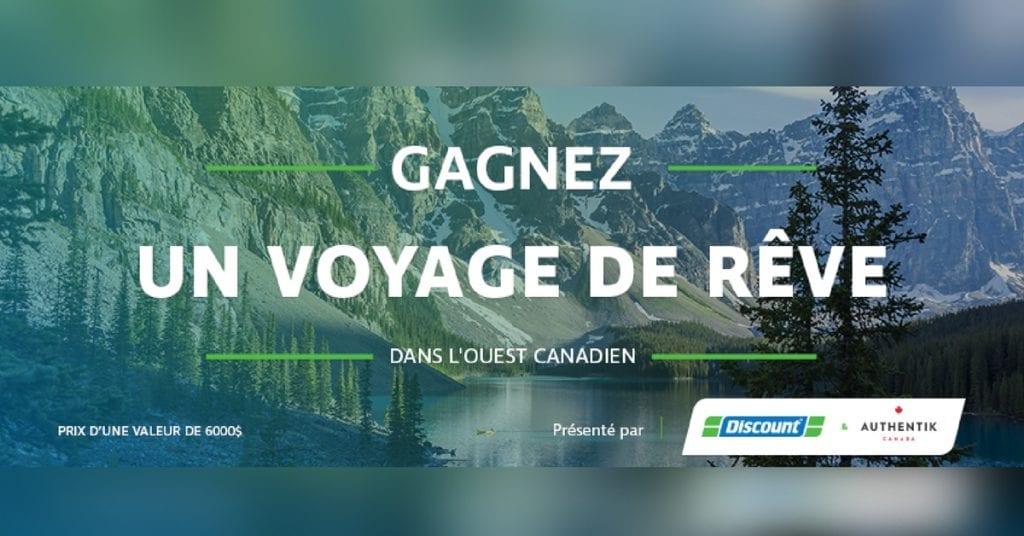 Gagnez un voyage d'une valeur de 6000$ pour découvrir l'Ouest canadien!