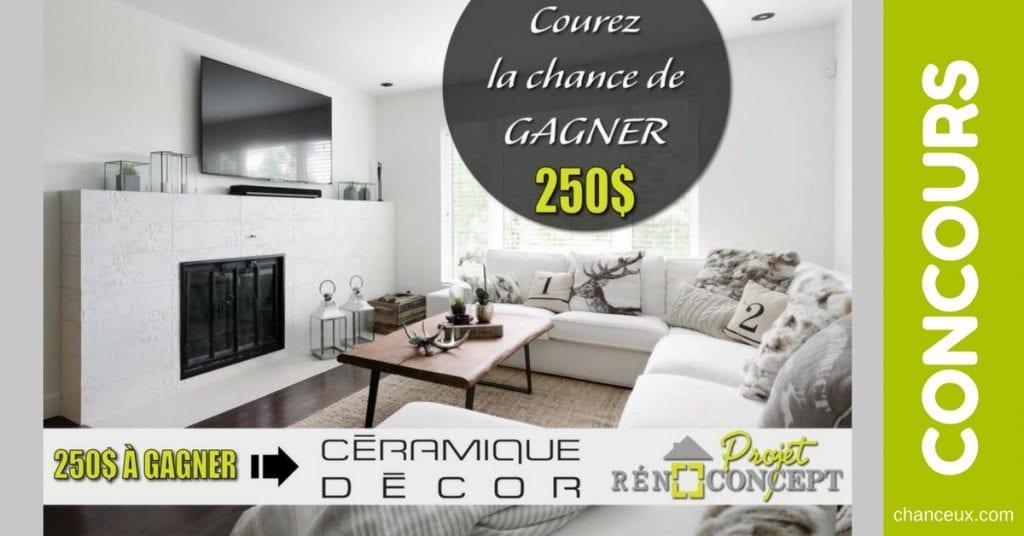 CONCOURS | Gagnez 250$ chez Céramique Décor pour vos rénovations!