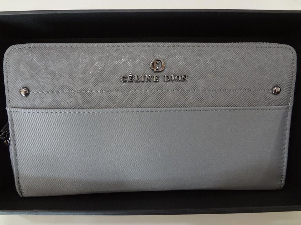 porte monnaie Céline Dion gris extérieur