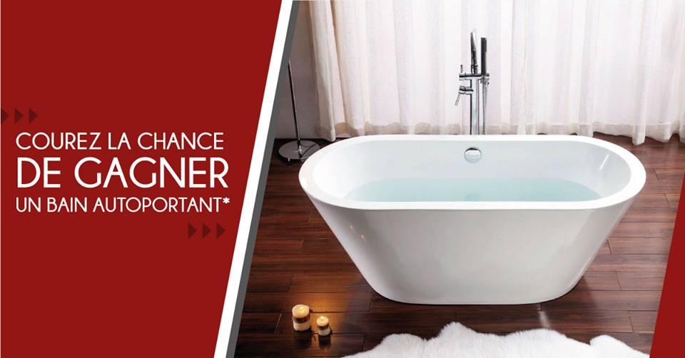 CONCOURS - Courez la chance de gagner ce magnifique bain autoportant