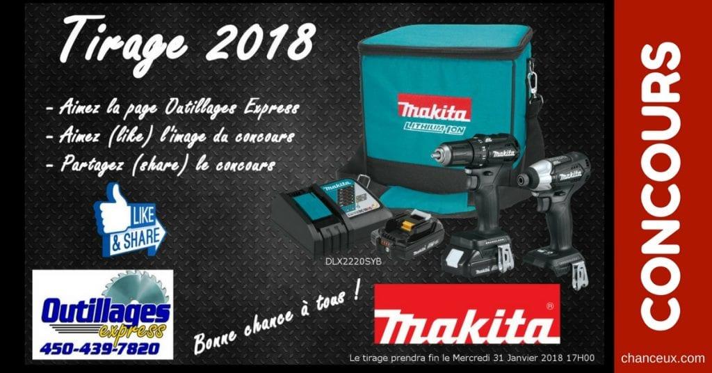 CONCOURS - Gagner un ensemble MAKITA DLX2220SYB Black Edition! Valeur de 300$