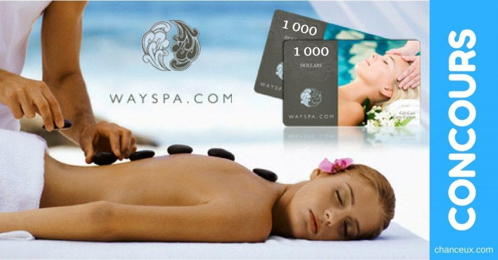 CONCOURS - Gagnez 12 cartes-cadeaux Way Spa de 1000$ pour allez relaxer!