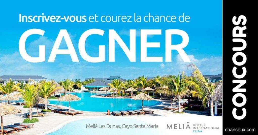 CONCOURS - Gagnez des vacances pour 2 à Cayo Santa Maria, Cuba!