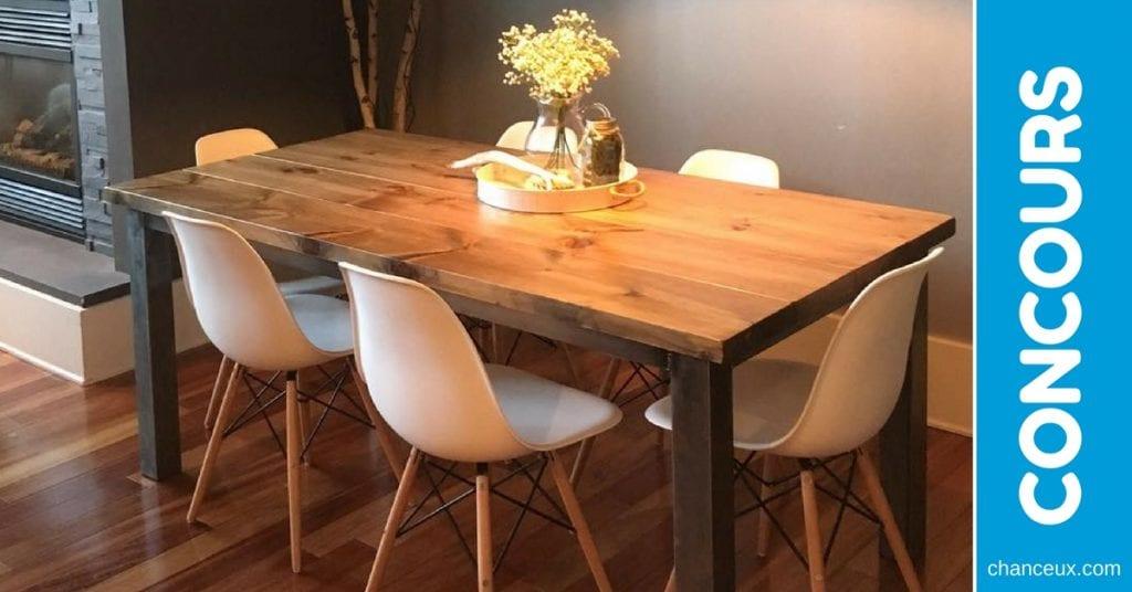 CONCOURS - Gagnez une table de cuisine en bois unique!