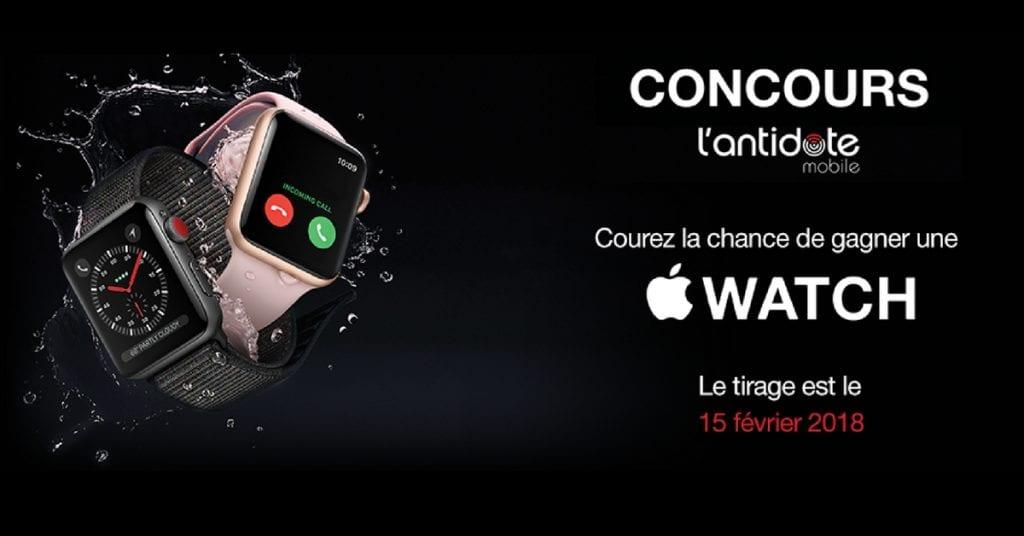 CONCOURS - Gagnez une magnifique montre Apple Watch!