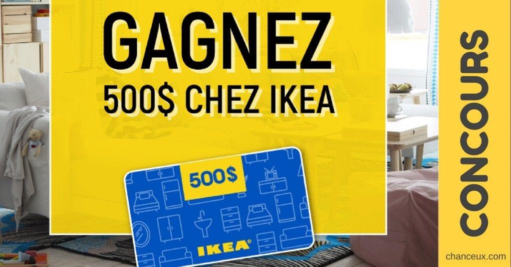 Concours Québec - Gagne une carte cadeau de 500$ chez IKEA