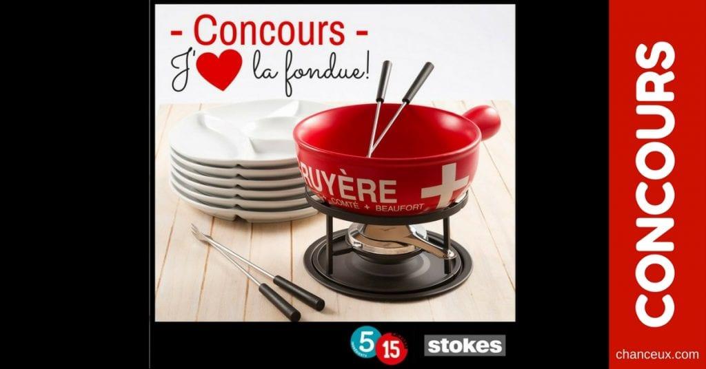 Gagnez un ensemble à fondue ainsi que les 6 assiettes!