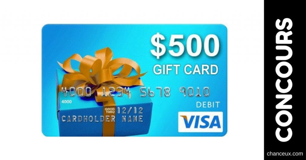 Gagnez une cartes-cadeaux prépayées Visa de 500$