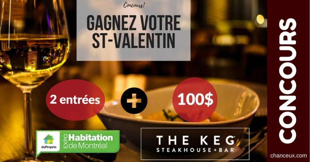 Gagne 2 entrées ExpoHabitation Une carte-cadeau de 100$ The Keg Steakhouse