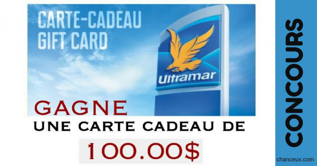 gagne une carte cadeau d essence chez ultramar de. Black Bedroom Furniture Sets. Home Design Ideas