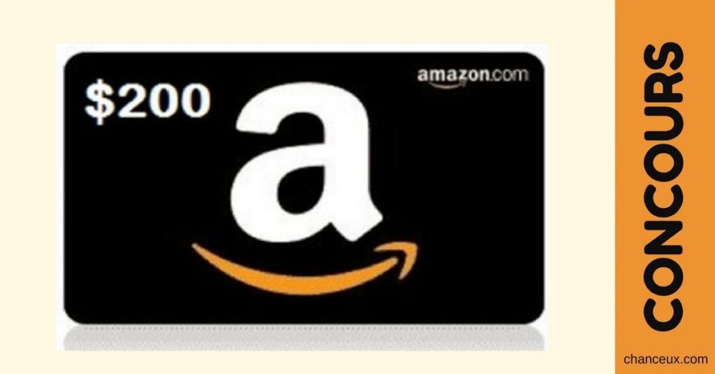 Gagne une carte prépayée Amazon d'une valeur de 200$