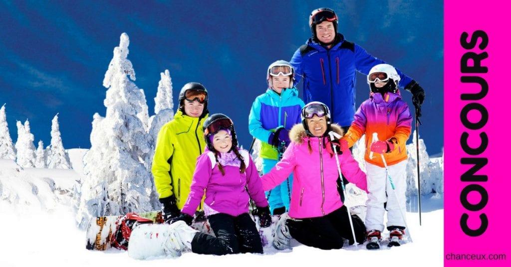 Gagne un voyage de ski tout inclus pour ta famille!