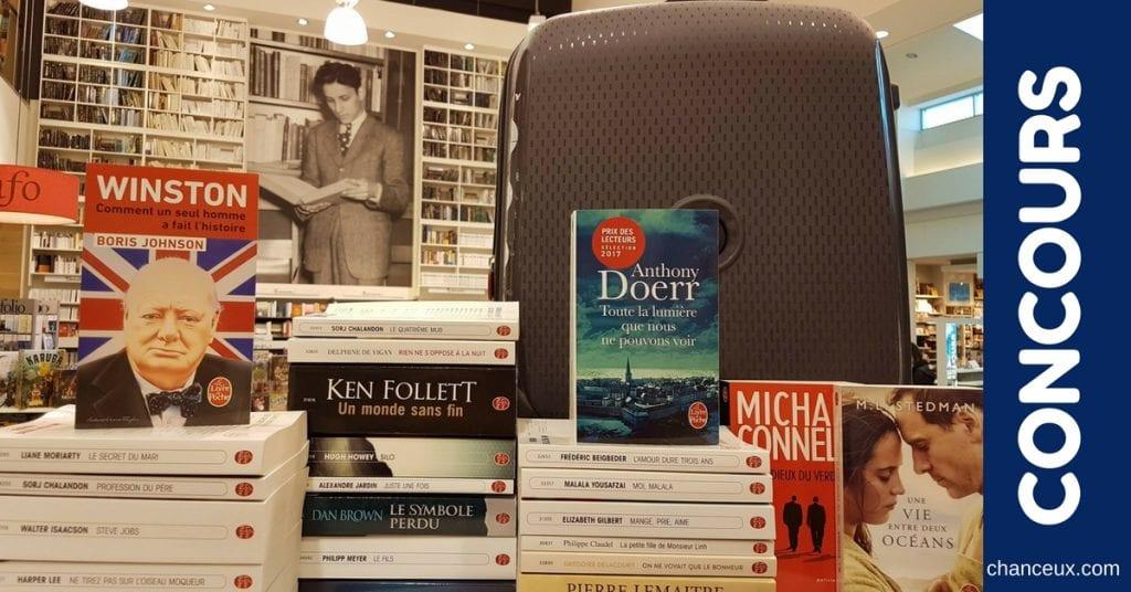 Gagne un lot de 24 livres accompagné d'une valise de voyage Delsey!
