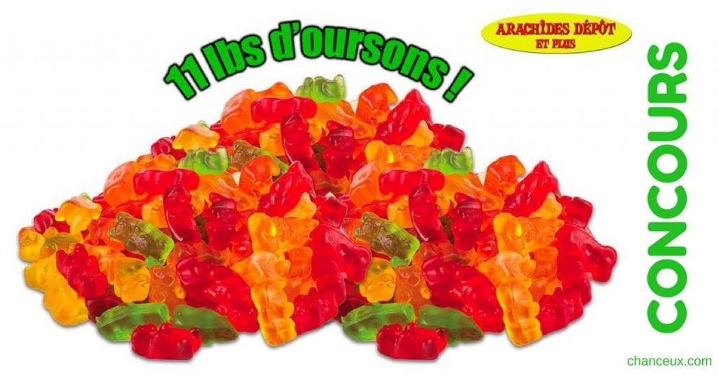 Concours 11 lbs d'oursons en gelée à Gagner! Des bonbons à partager!