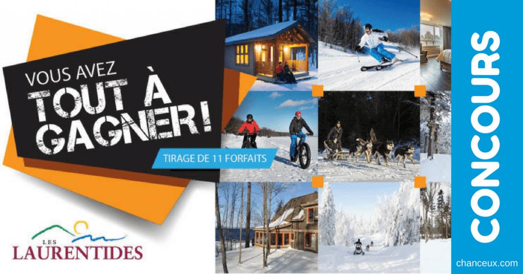 CONCOURS - Gagnez un de onze séjours dans les Laurentides