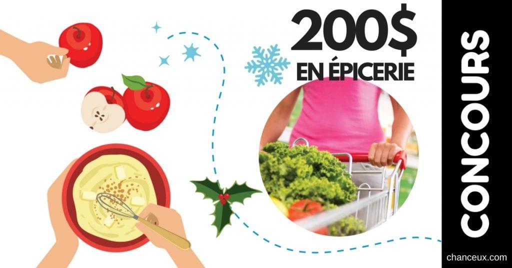 CONCOURS - Gagnez 1 des 4 épiceries de 200 $
