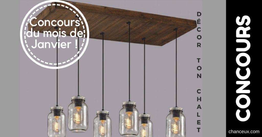 CONCOURS - Gagnez un magnifique luminaire en vrai bois, fait à la main