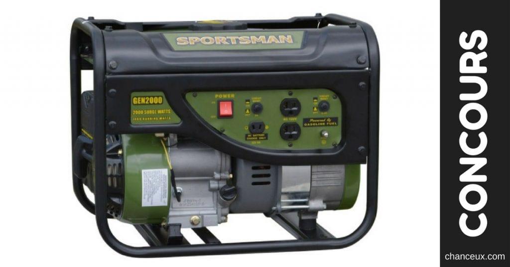 CONCOURS - Gagnez une génératrice Sportsman 2000 Watt