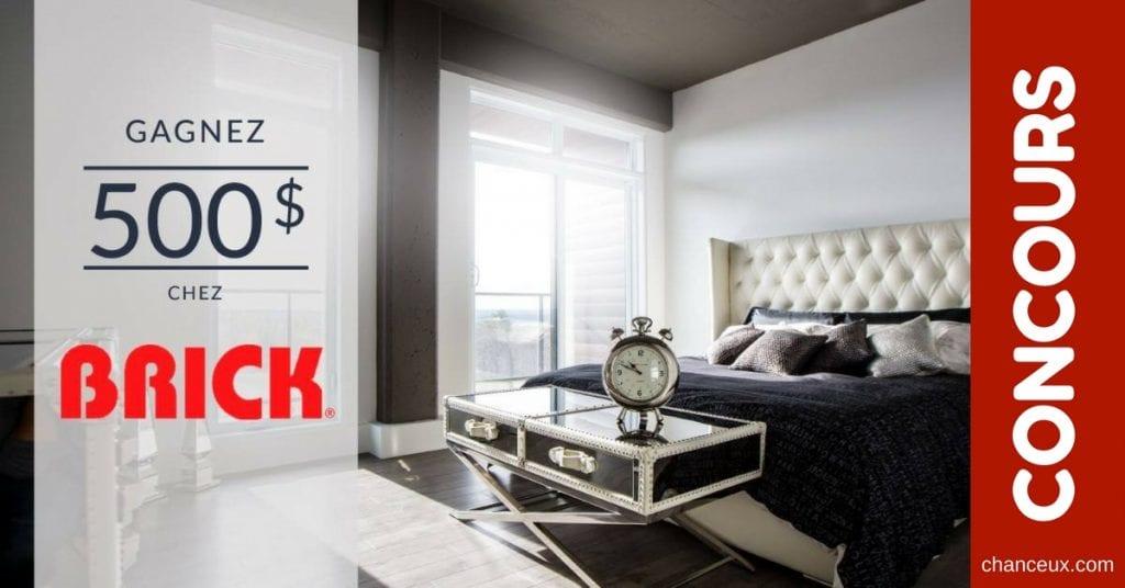 CONCOURS - Gagnez 500 $ chez Brick!