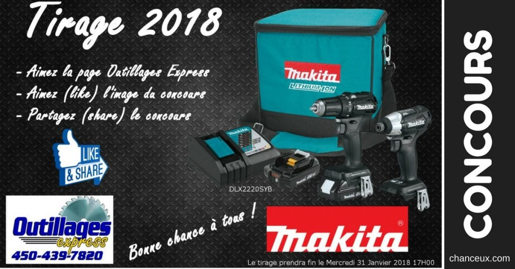 CONCOURS - Gagnez un ensemble MAKITA DLX2220SYB Black Edition !