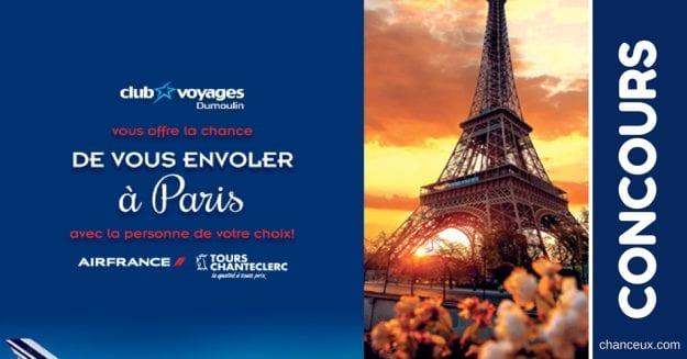 CONCOURS – GAGNEZ Un voyage à Paris avec la personne de votre choix!