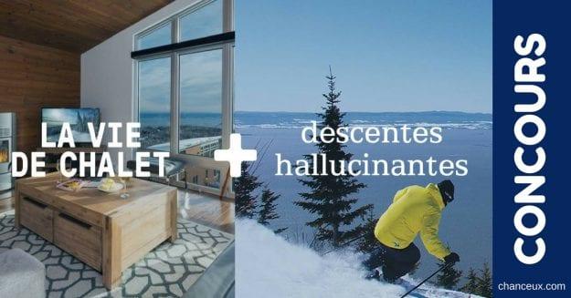 CONCOURS – GAGNEZ 2 nuitées dans l'un de nos chalets pour 4 et billets de ski