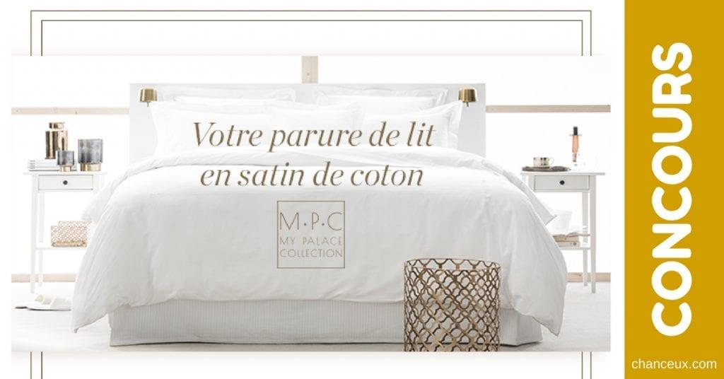 Gagner Une parure de lit en satin de coton