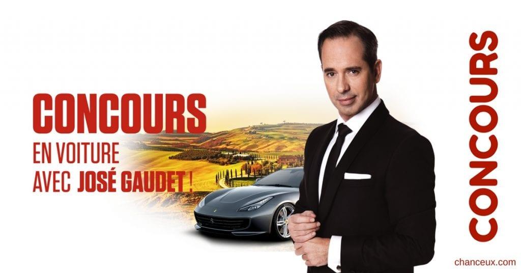 CONCOURS gagner un rallye en voitures exotiques en compagnie de l'animateur José Gaudet