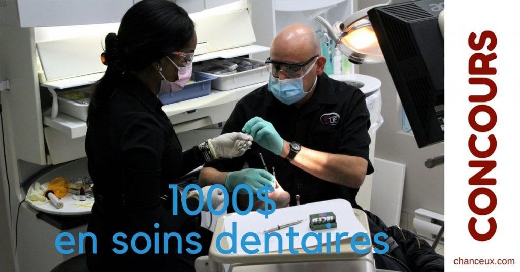 Gagner 1000$ en soins dentaires chez Centre Dentaire Elie