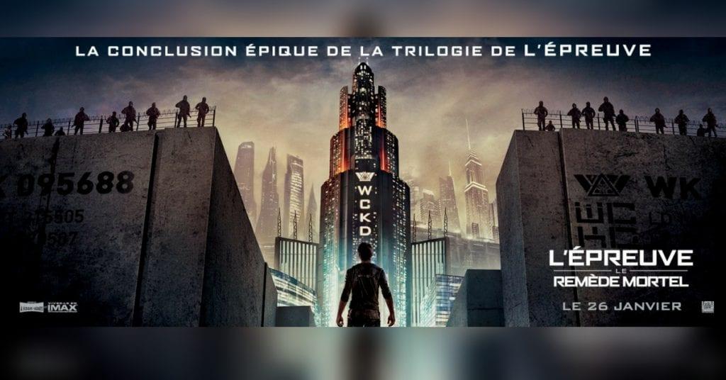 concours cinéma pour l'ÉPREUVE LE REMÈDE MORTEL!