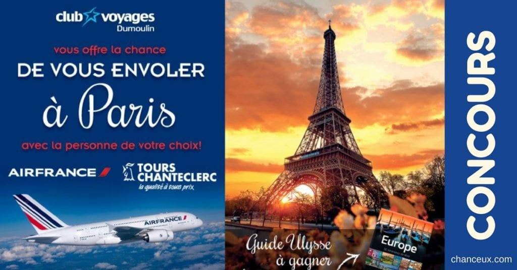 Gagnez un voyage à Paris avec la personne de votre choix!