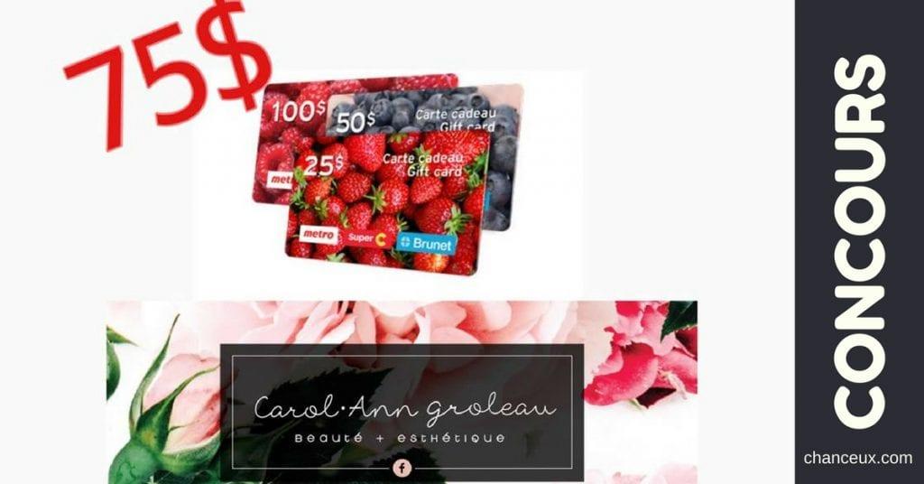 Gagnez 75$ en carte-cadeau d'épicerie chez Metro!