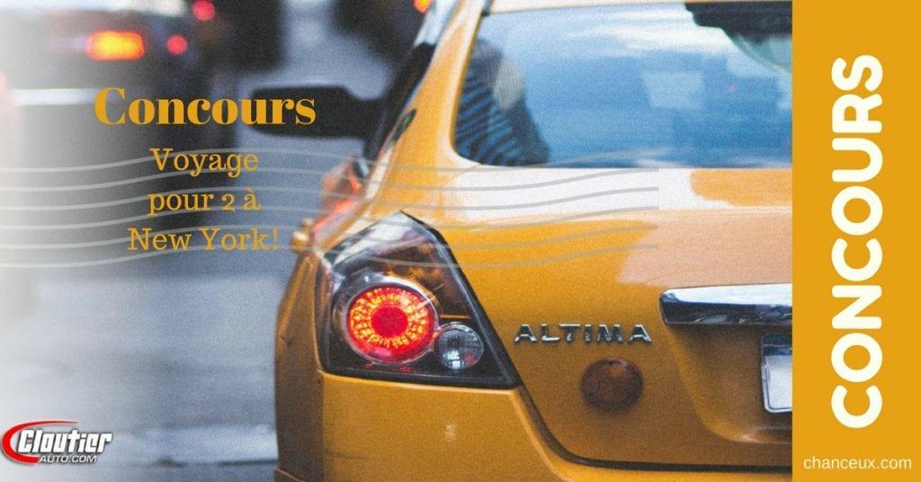Gagnez une fin de semaine pour deux à NEW-YORK!