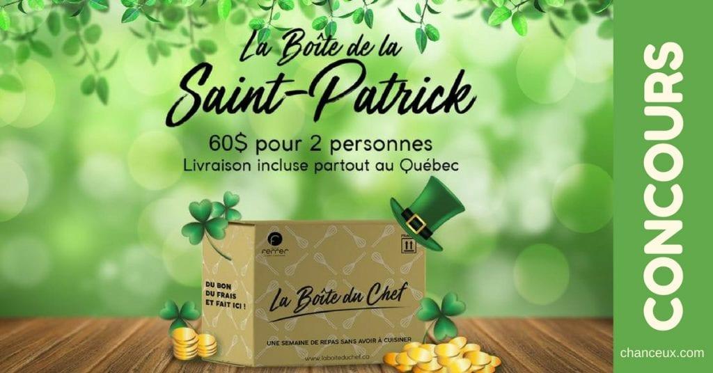 Gagnez un nouveau coffret La Boîte du Chef édition Saint-Patrick !