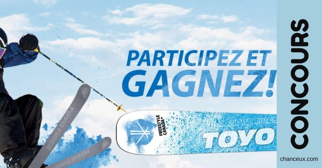 Gagnez un ensemble de skis Toyo Tires OU une planche à neige signée Elan!
