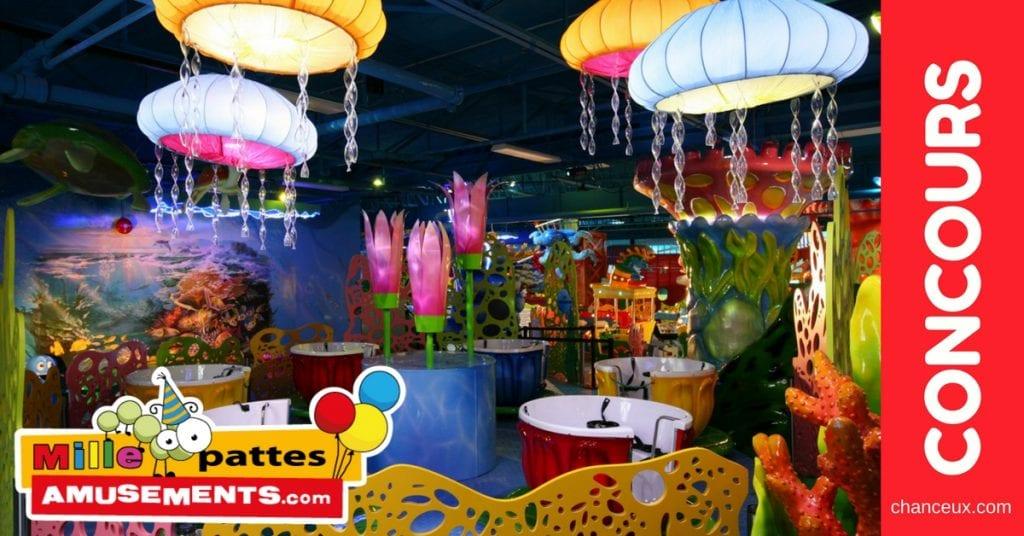 Gagnez la fête de votre enfant chez Mille Pattes Amusements!