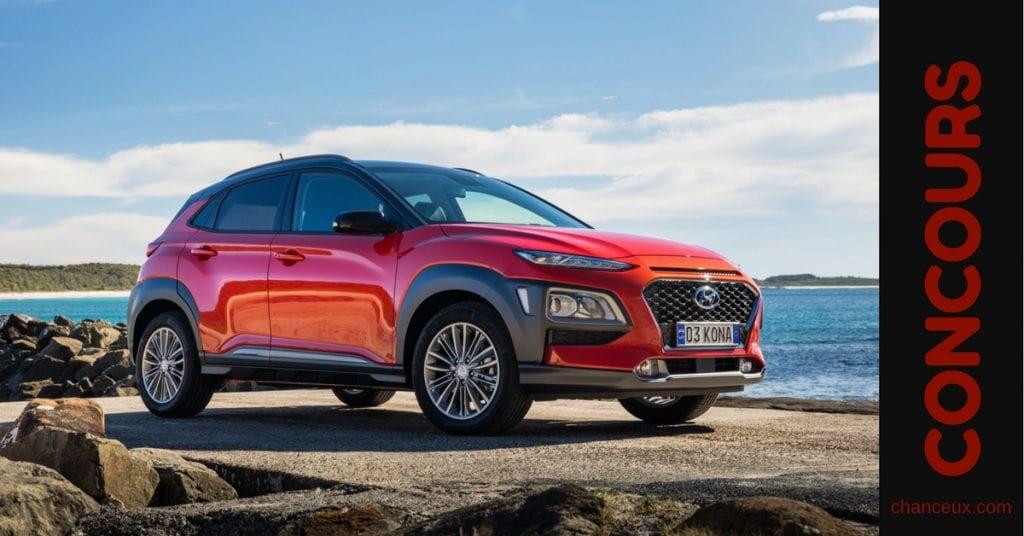 Courrez la chance de gagner le tout nouveau Hyundai KONA!