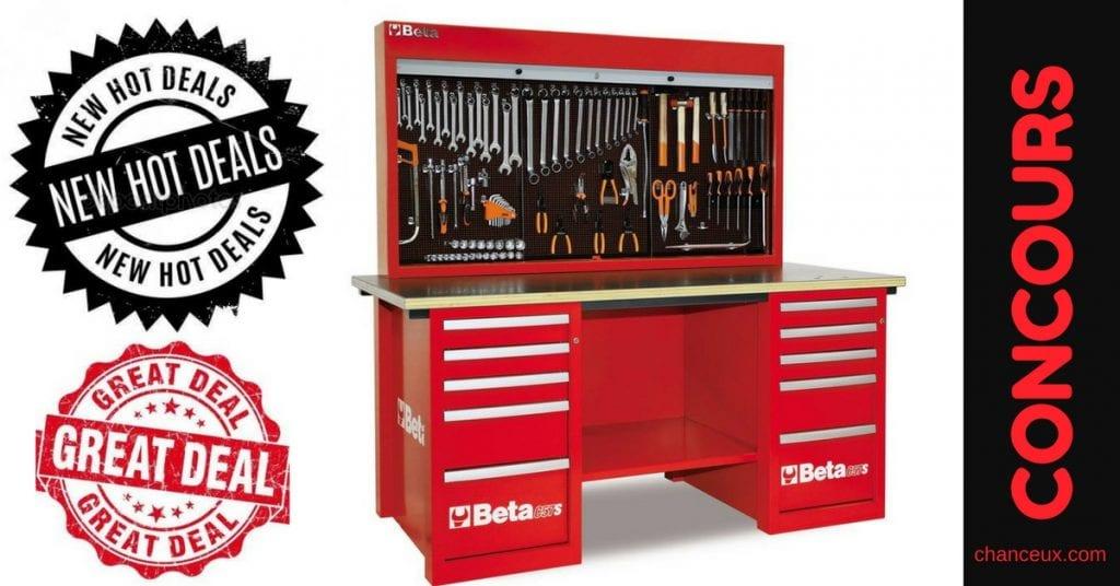 Gagnez un magnifique établi livré complet avec tous ses outils et accessoires !