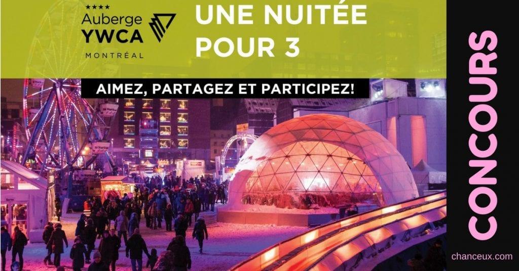 Gagnez une nuitée pour 3 à l'Auberge YWCA Montréal !