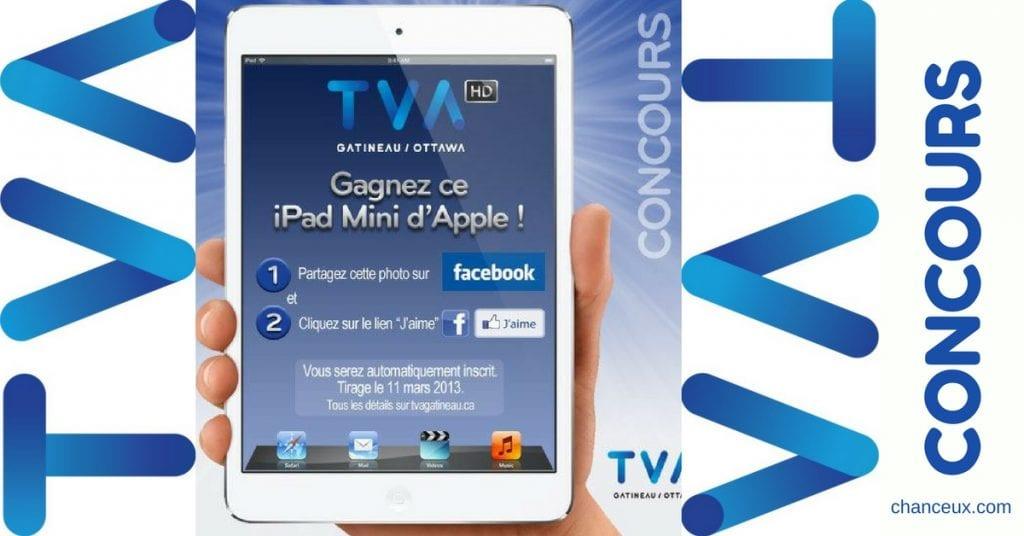Gagnez un iPad mini de Apple avec TVA Gatineau-Ottawa!