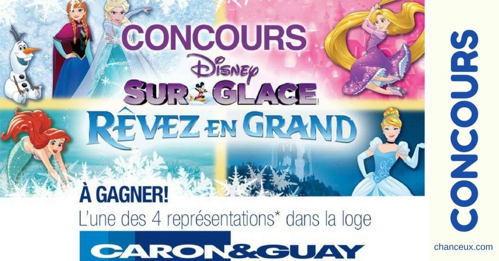 Gagnez une des 4 représentations Disney sur Glace!