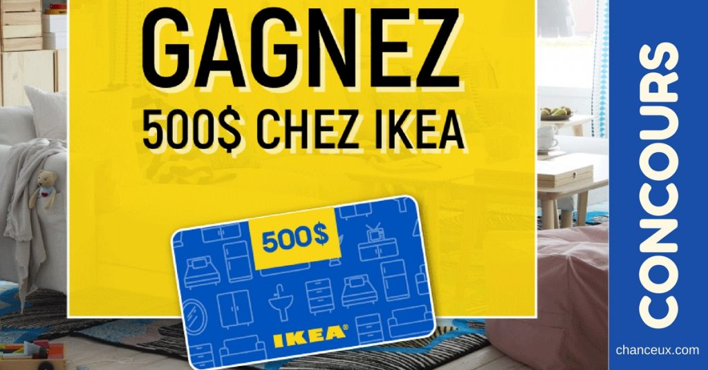 gagnez une carte cadeau de 500 d penser chez ikea. Black Bedroom Furniture Sets. Home Design Ideas