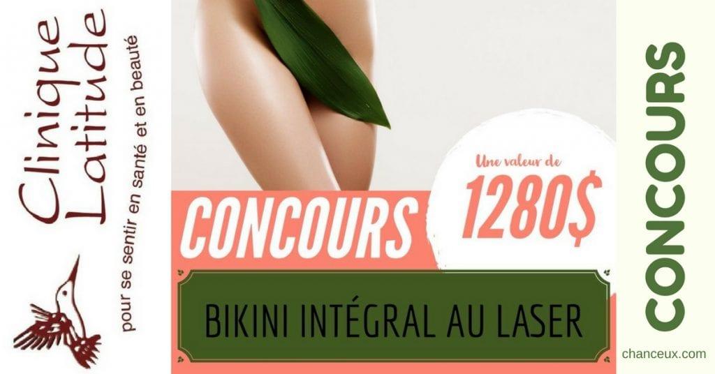 Gagnez une épilation intégrale du Bikini au laser, une valeur de 1 280 $ !