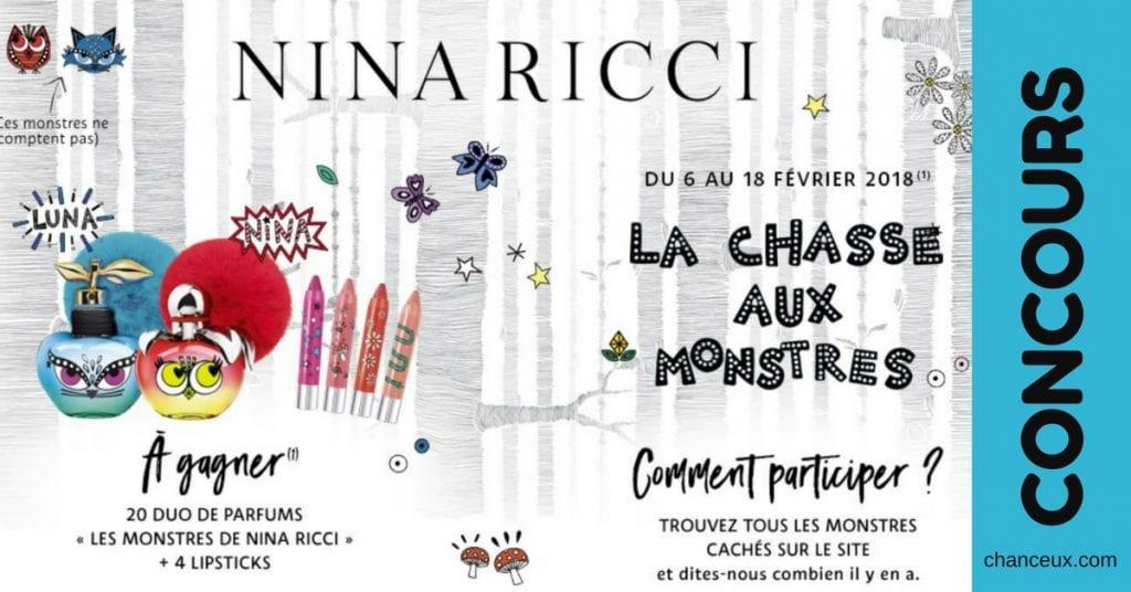 Gagnez 2 parfums et 4 rouges à lèvres Nina Ricci!