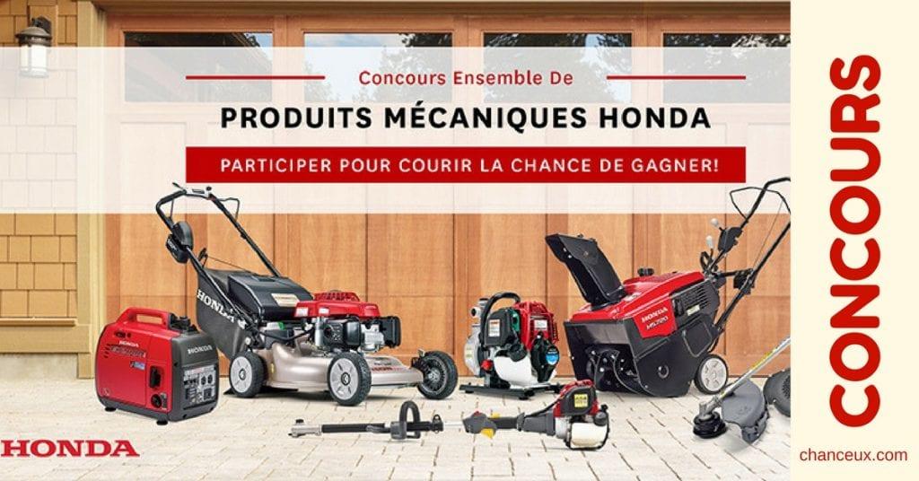 Gagnez un ensemble de produits mécaniques Honda!