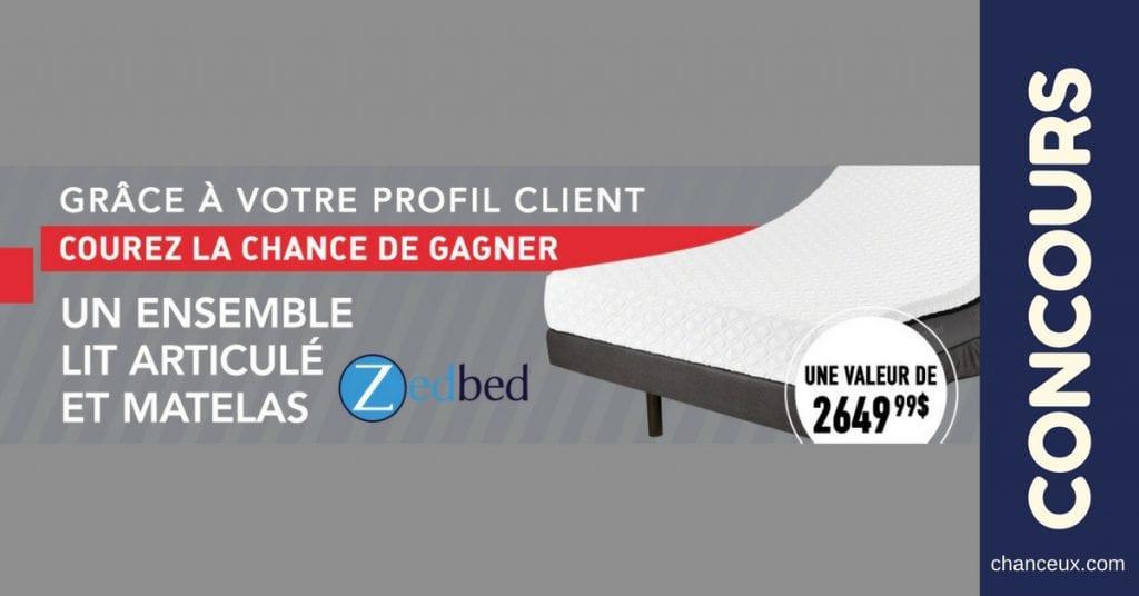 Gagnez Une base de lit articulé modèle ZedBed Pedic-SM