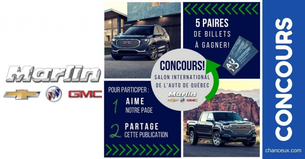 Gagnez une paires de billets pour le Salon International de l'Auto de Québec